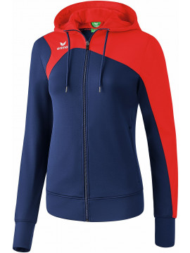 Erima Club 1900 2.0 Trainingsjack met capuchon dames new navy/rood