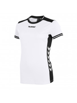 Hummel lyon shirt ladies k.m. wit/zwart
