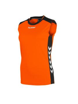 Hummel Lyon Top ladies mouwloos oranje/zwart