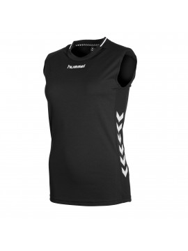 Hummel Lyon Top ladies mouwloos zwart/wit