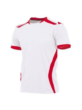 Hummel club Shirt unisex k.m. wit/rood