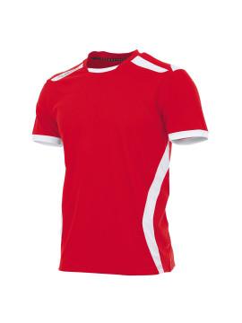Hummel Club Shirt unisex k.m. rood/wit
