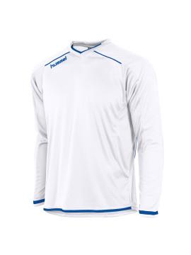 Hummel Leeds Shirt unisex L.M. wit/kobalt