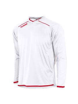 Hummel Leeds Shirt unisex l.m. wit/rrood