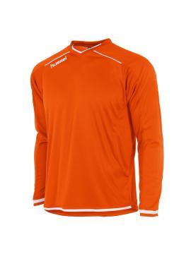 Hummel Leeds Shirt unisex l.m. oranje/wit