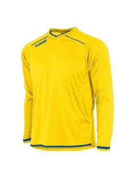 Hummel Leeds Shirt unisex l.m. geel/kobalt
