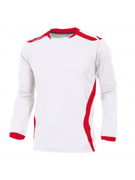 Hummel Club Shirt unisex l.m. wit/rood