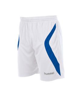 Hummel Manchester Short met binnenbroek wit/kobalt