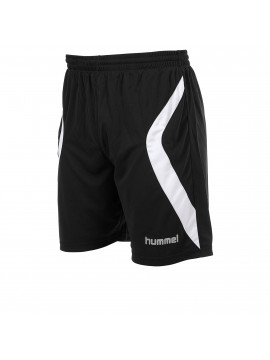 Hummel Manchester Short met binnenbroek zwart/wit