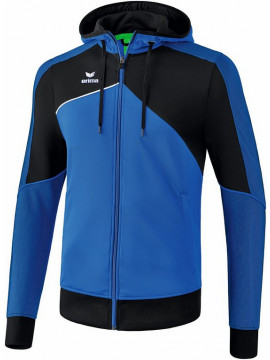 Erima Premium One 2.0 trainingsjack met capuchon royal/zwart/wit