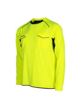 Stanno Bergamo scheidsrechter shirt LM neon geel/zwart