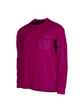 Stanno Bergamo scheidsrechter shirt LM fuchsia/zwart