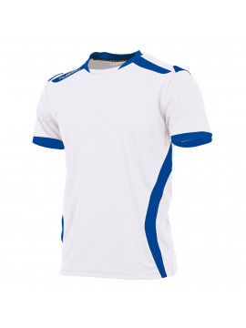 Hummel Club Shirt unisex k.m. wit/kobalt