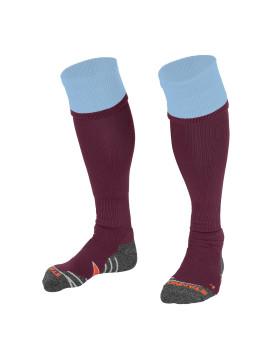 Stanno Combi Sock burgundy/sky blue