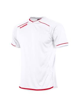 Hummel Leeds Shirt unisex k.m. wit/rood