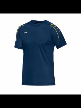 Jako T-shirt Classico nachtblauw/citroen